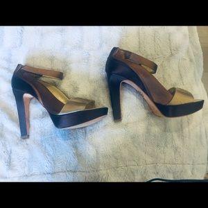 Bebe bronze heels